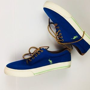Ralph Lauren Polo Blue Sneakers EUC 9.5
